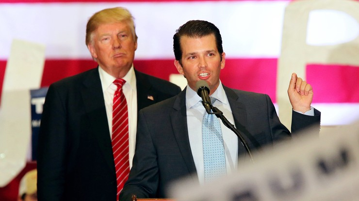 """""""Po raz pierwszy usłyszałem o tym parę dni temu"""". Trump o spotkaniu jego syna z prawniczką z Rosji"""