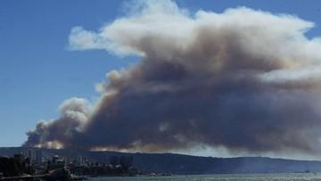 Gigantyczny pożar lasów w Chile. Ogień dotarł do 5 miejscowości