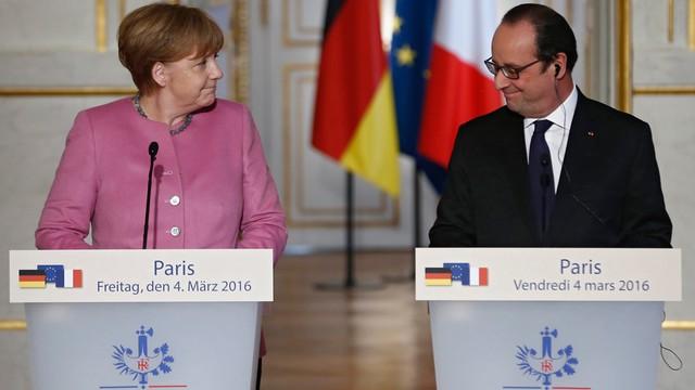 Hollande i Merkel za ogólnoeuropejskim rozwiązaniem problemu uchodźców