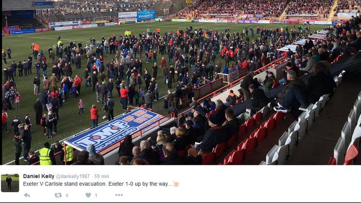 Stadion w Anglii zagrożony pożarem! Przerwano jeden z meczów