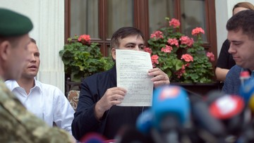 12-09-2017 12:43 Saakaszwili otrzymał protokół o nielegalnym przekroczeniu granicy
