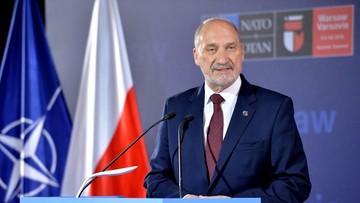 08-07-2016 13:43 Macierewicz: Sojusz jest strukturą obronną, która jedynie odpowiada za zagrożenia