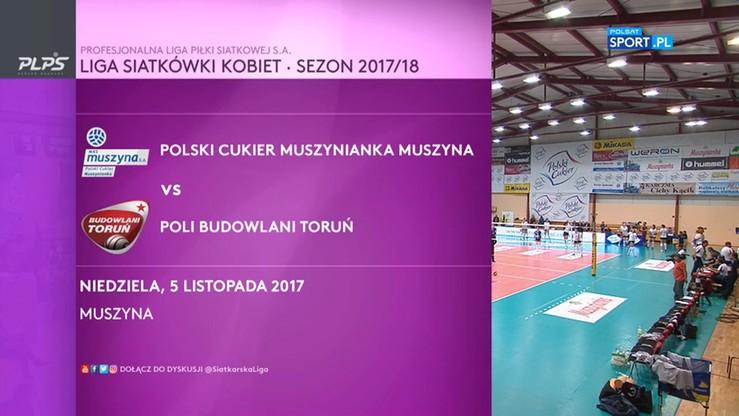 Polski Cukier Muszynianka Muszyna – Poli Budowalni Toruń 3:0. Skrót meczu