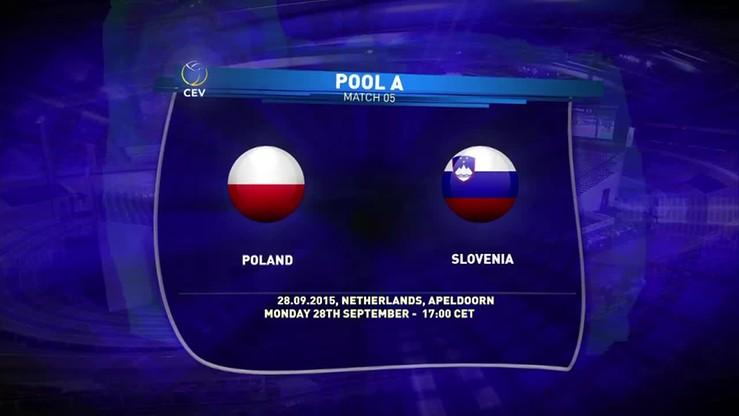 Polska - Słowenia 3:0. Skrót meczu