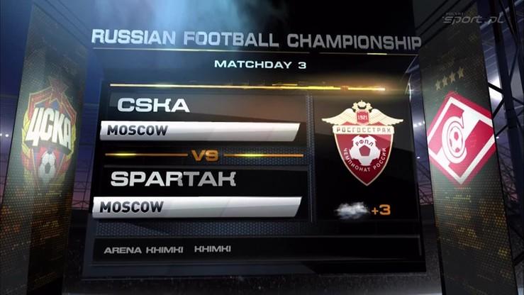 CSKA Moskwa - Spartak Moskwa 1:0. Skrót meczu
