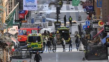 Ciężarówka wjechała w ludzi na ulicy w centrum Sztokholmu. Cztery osoby nie żyją
