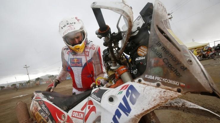 Przygoński 16. po ośmiu etapach Rajdu Dakar, Piątka wykluczyła awaria