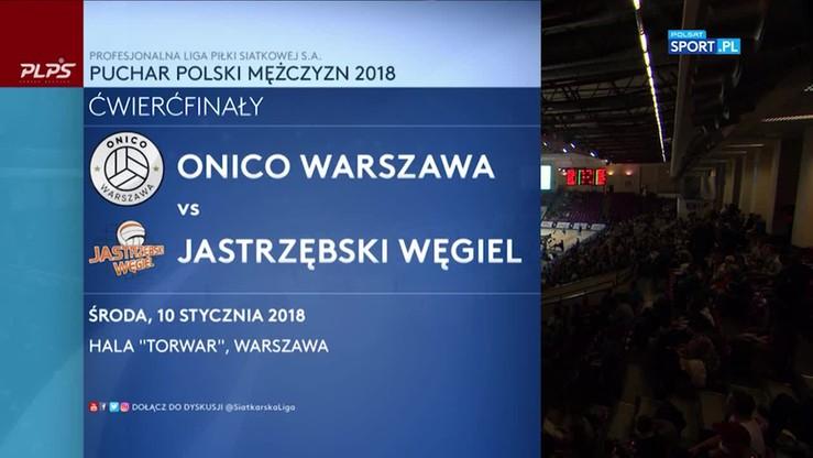2018-01-10 ONICO Warszawa - Jastrzębski Węgiel 3:2. Skrót meczu