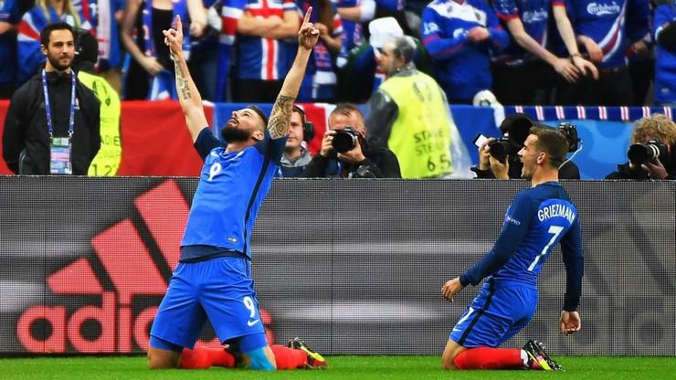 Francja - Islandia. Mocne otwarcie gospodarzy! Gole Giroud i Pogby