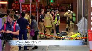 Wybuch gazu w Sydney - 14 osób zostało rannych