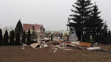 23-03-2016 17:40 Wybuch w domu jednorodzinnym. Strażacy spod gruzów wydobyli kobietę