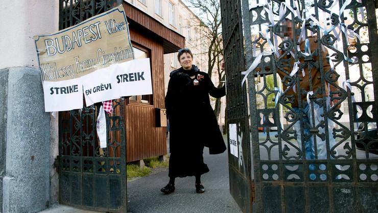 Protest węgierskich nauczycieli przeciwko reformie szkolnictwa
