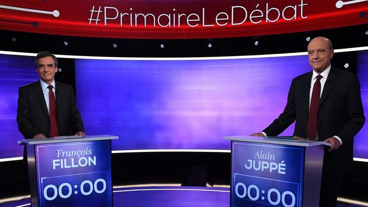 Sukces Fillona w teledebacie, w której zmierzył się z Juppe