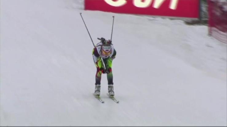 PŚ w biathlonie: zwycięstwo Domraczewej w Oberhofie