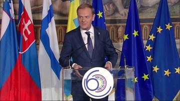 2017-03-25 Przemówienie Tuska w Rzymie: Wspólne zasady fundamentem jedności europejskiej