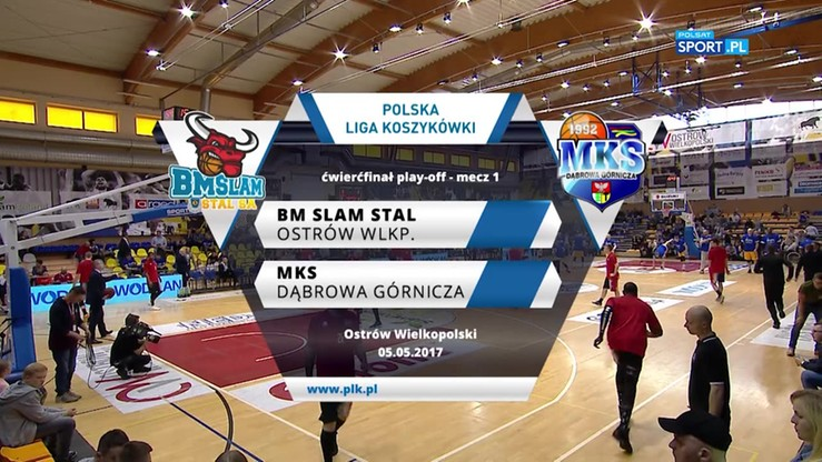 BM Slam Stal Ostrów Wlkp. - MKS Dąbrowa Górnicza 84:76. Skrót meczu