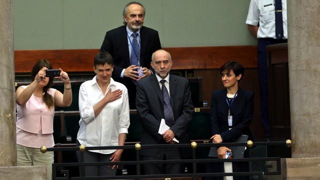 Sawczenko w Sejmie i u Schetyny