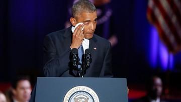 """11-01-2017 05:26 """"Ameryka jest obecnie lepsza i silniejsza"""". Pożegnalne przemówienie Obamy"""
