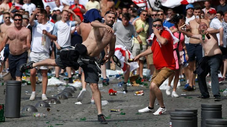Anglia - Rosja: Awantury między kibicami obu drużyn