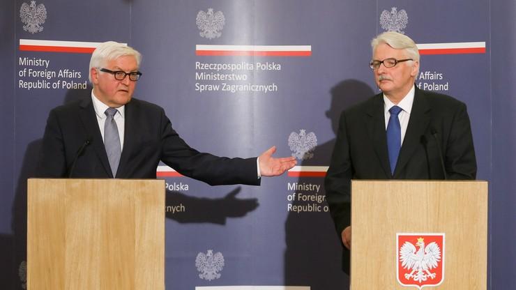 Waszczykowski zapowiada polsko-niemieckie konsultacje międzyrządowe