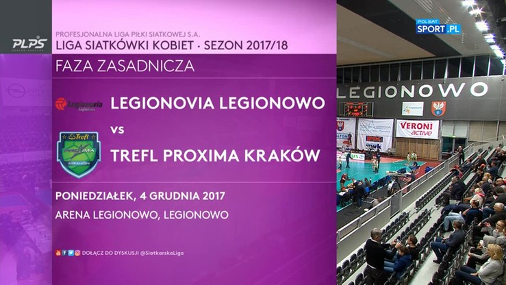 Legionovia Legionowo – Trefla Proxima Kraków 3:0. Skrót meczu