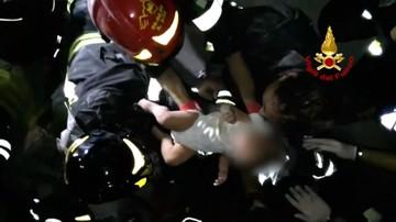 2017-08-22 Niemowlę uratowane spod gruzów po trzęsieniu ziemi we Włoszech