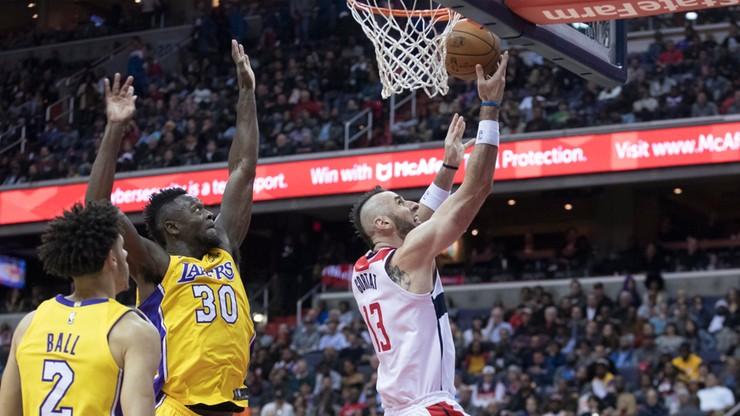 NBA: Wygrana Wizards z utytułowanym rywalem. Dobra postawa Gortata