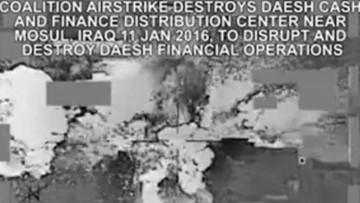 16-01-2016 10:00 Skarbiec ISIS trafiony amerykańską rakietą. Pieniądze latały w powietrzu