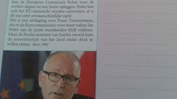 """14-09-2016 20:56 Polska przykładem w holenderskim podręczniku - """"Jak nie należy korzystać z wolności i demokracji"""""""