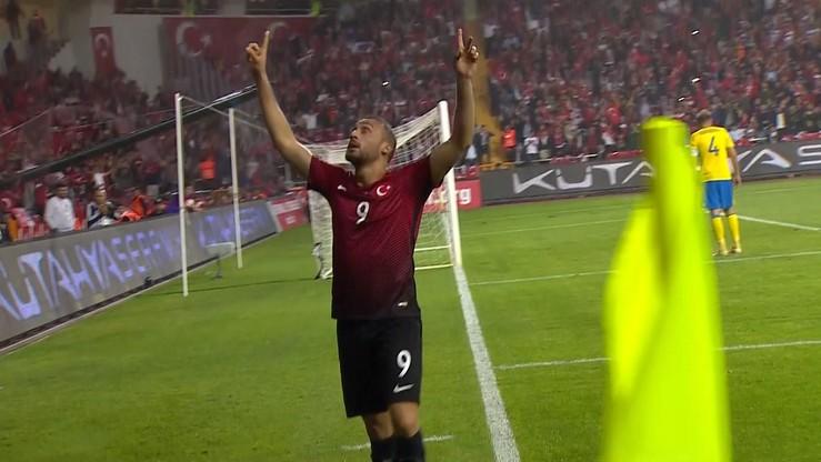 Szwecja bez Zlatana gorsza od Turcji. Dwa gole Tosuna