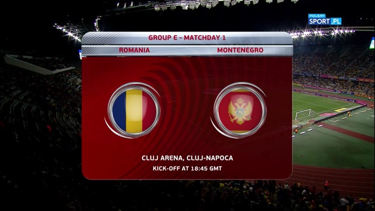 2016-09-04 Rumunia - Czarnogóra 1:1. Skrót meczu