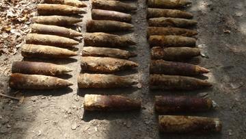 10-06-2016 19:47 Ponad 70 pocisków artyleryjskich znaleziono w lesie