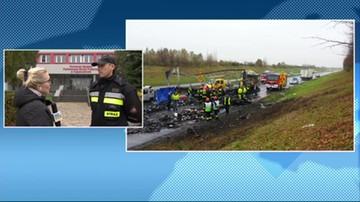 Wypadek w Mykanowie na trasie Katowice-Warszawa. Droga całkowicie zablokowana