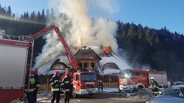 2017-02-03 Ogromny pożar karczmy w Zawoi. Z lokalu zostały zgliszcza