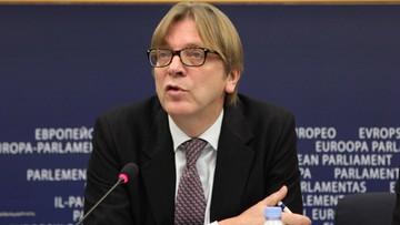 03-06-2016 21:31 Guy Verhofstadt dla Polsat News: Putin chętnie widziałby Polskę opuszczającą UE