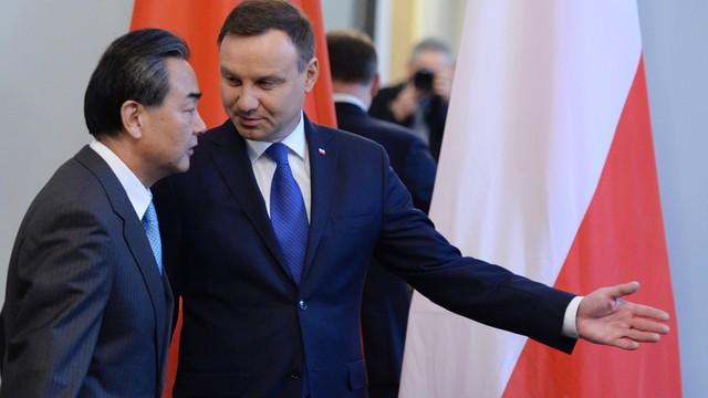 Prezydent Duda rozmawiał z szefem chińskiej dyplomacji m.in. o współpracy gospodarczej