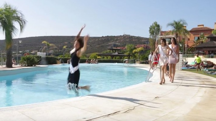 Mokra wpadka kandydatki na miss Hiszpanii