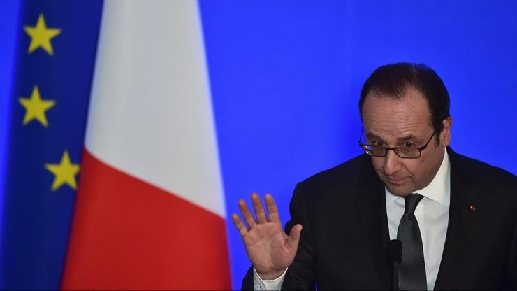 Strzały podczas przemówienia Hollande'a. Dwie osoby lekko ranne