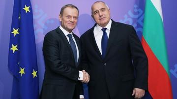 12-01-2018 12:06 Przekazanie Bułgarii półrocznego przewodnictwa w UE. Tusk całe przemówienie wygłosił po bułgarsku