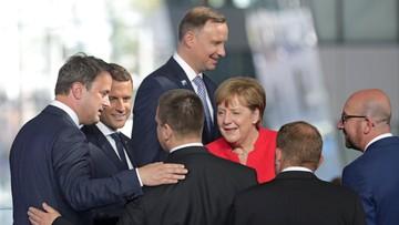 Duda rozmawiał w Brukseli z prezydentem USA i z premier Wielkiej Brytanii
