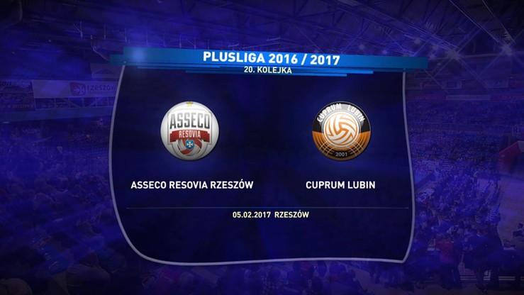 Asseco Resovia Rzeszów - Cuprum Lubin 3:2. Skrót meczu