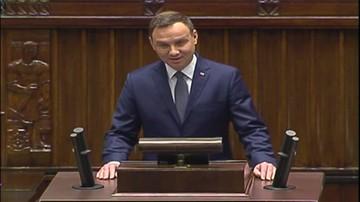 Duda na pierwszym posiedzeniu Sejmu: dziękuję wyborcom, za to że głosowali