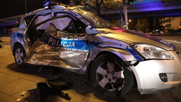 24-08-2017 21:23 Wypadek policyjnego radiowozu prowadzącego kolumnę BOR. W kolumnie jechał sekretarz generalny NATO