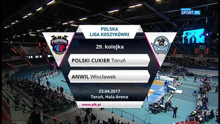 Polski Cukier Toruń - Anwil Włocławek 69:73. Skrót meczu