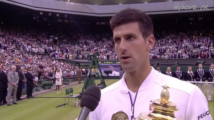 Djokovic: To trofeum zawdzięczam trenerom i bliskim!