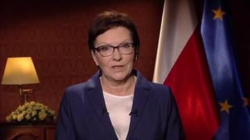 Orędzie premier Ewy Kopacz