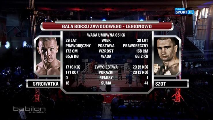 Michał Syrowatka - Krzysztof Szot. Skrót walki