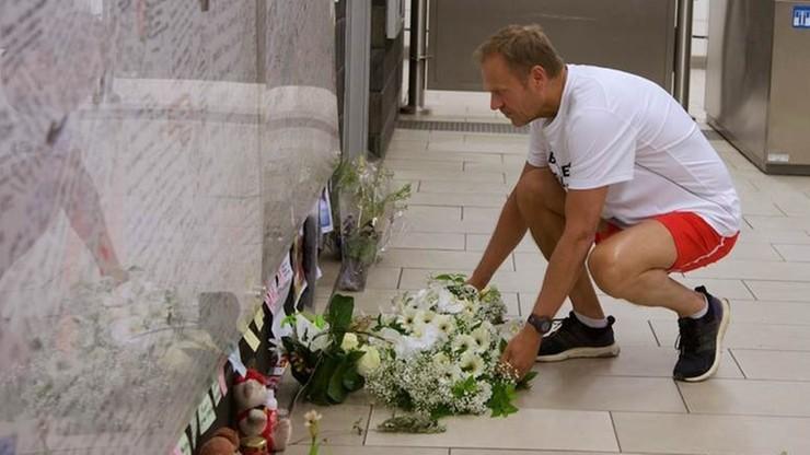 Donald Tusk oddał hołd ofiarom zamachów w Brukseli. A potem pobiegł w półmaratonie