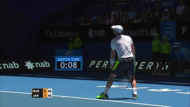 Puchar Hopmana: Murray - Janowicz. Skrót meczu