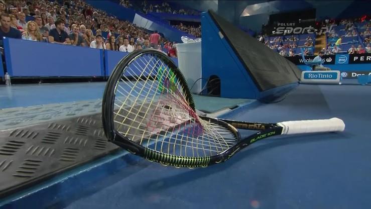 Wściekła Serena Williams łamie rakietę!